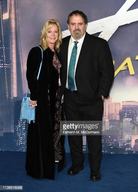 Producer Jon Landau with his wife Julie Landau attend the Alita Battle Angel world premiere at the Odeon Leicester Square Luxe Cinema on January 31...