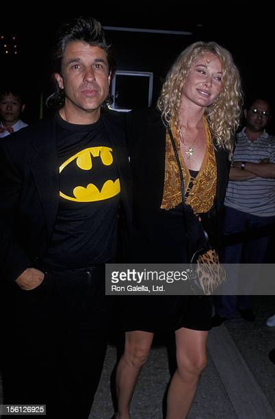 Producer Jon Peters and wife Christine Forsyth attend the premiere of 'Batman' on June 19 1989 at Mann Bruin Theater in Westwood California