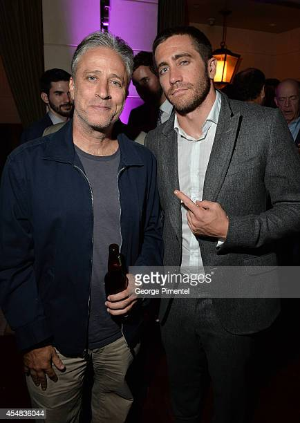 Producer Jon Stewart and actor Jake Gyllenhaal attend HFPA InStyle's 2014 TIFF Celebration at the Windsor Arms Hotel on September 5 2014 in Toronto...