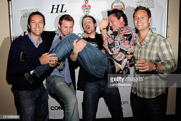 Producer Jonas Bell Pasht director/writer Simmon Ennis writer Joshua Peace actor Michael Madsen and producer Ari Lantos attend the 'You Might As Well...
