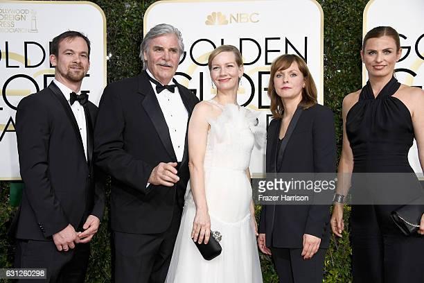 Producer Jonas Dornbach actor Peter Simonischek actress Sandra Huller director Maren Ade and Janine Jackowski attend the 74th Annual Golden Globe...