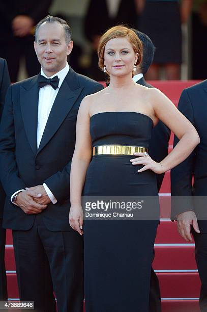 Producer Jonas Rivera and Actress Amy Poehler attends the Inside Out Premiere during the 68th annual Cannes Film Festival on May 18 2015 in Cannes...