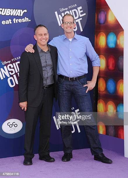 Producer Jonas Rivera and writer/director Pete Docter arrive at the Los Angeles premiere of Disney/Pixar's 'Inside Out' at the El Capitan Theatre on...