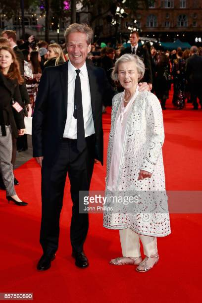 """Producer Jonathan Cavendish and Diana Cavendish attend the European Premiere of """"Breathe"""" on the opening night gala of the 61st BFI London Film..."""