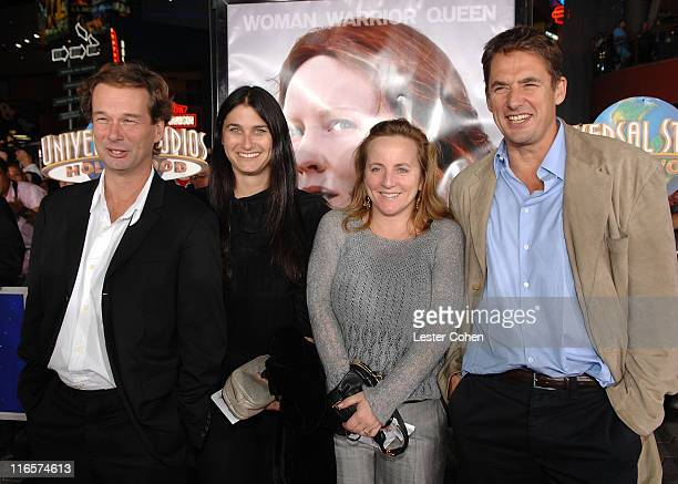 Producer Jonathan Cavendish executive producer Liza Chasin executive producer Debra Hayward and producer Tim Bevan arrive to the premiere of...