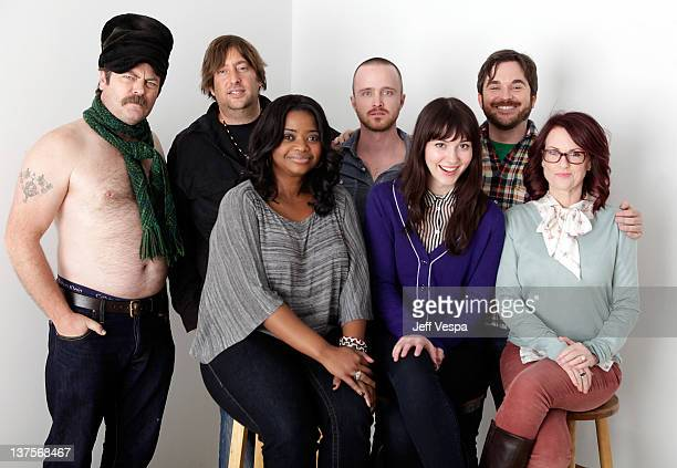 Producer Jonathan Schwartz actors Octavia Spencer Aaron Paul Mary Elizabeth Winstead writer/director James Ponsoldt actress Megan Mullally pose for a...