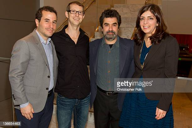 Producer Jonathan Silberberg actor Jason Baldwin director Joe Berlinger and Senior Vice President of HBO Documentary Films Nancy Abraham attend the...