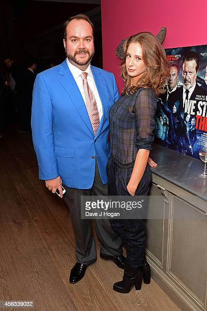 Producer Jonathan Sothcott and Emily Agnes attend a photocall for We Still Kill The Old Way at Ham Yard Hotel on September 29 2014 in London England