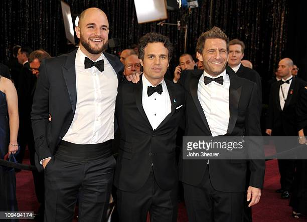 Producer Jordan Horowitz actor Mark Ruffalo and Producer Gary Gilbert arrive at the 83rd Annual Academy Awards held at the Kodak Theatre on February...