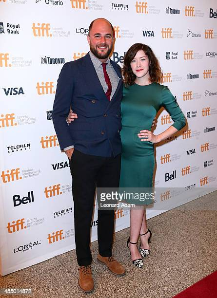 Producer Jordan Horowitz and Screenwriter Julia Hart attend The Keeping Room premiere during the 2014 Toronto International Film Festival at The...