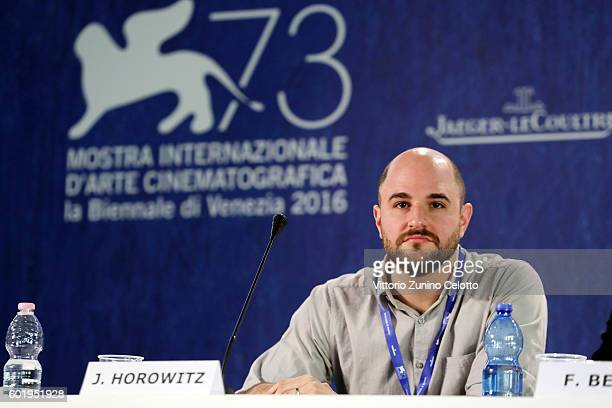 Producer Jordan Horowitz attends the press conference for 'La La Land' during the 73rd Venice Film Festival at on August 31 2016 in Venice Italy