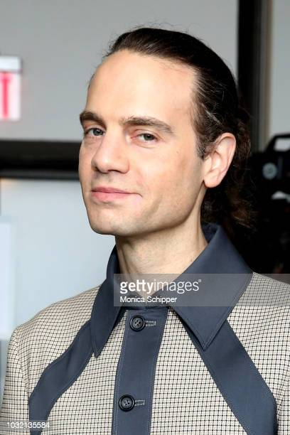 Producer Jordan Roth attends the Calvin Luo front Row during New York Fashion Week The Shows at Gallery I at Spring Studios on September 12 2018 in...