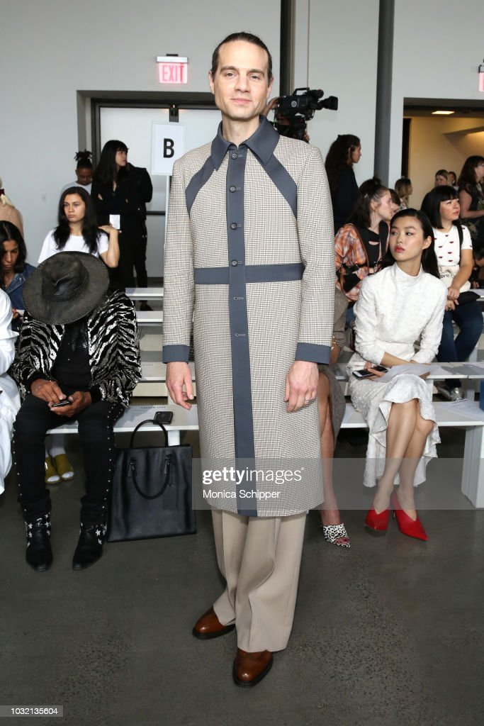 Producer Jordan Roth attends the Calvin Luo front Row during New York Fashion Week: The Shows at Gallery I at Spring Studios on September 12, 2018 in New York City.
