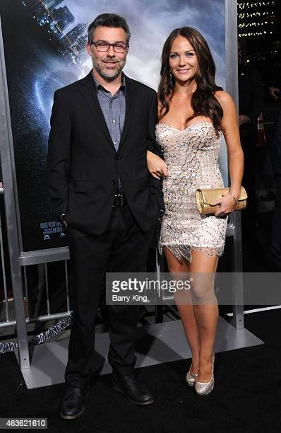 Producer Josh Applebaum and actress Briana Evigan attend the premiere of 'Project Almanac' at TCL Chinese Theatre on January 27 2015 in Hollywood...