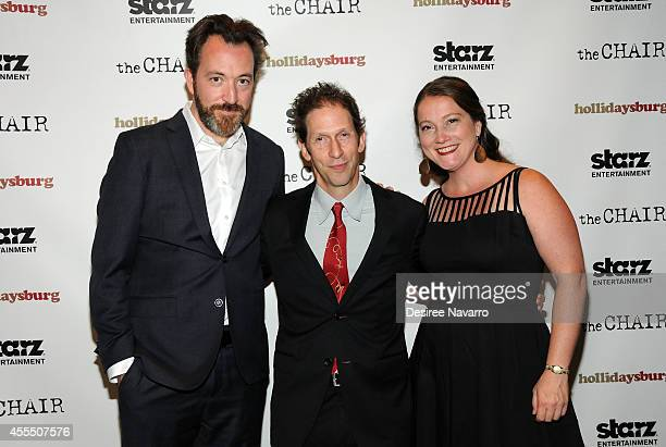 Producer Josh Hetzler actor Tim Blake Nelson and producer Julie Buck attend Hollidaysburg New York Premiere at Tribeca Grand Hotel on September 15...