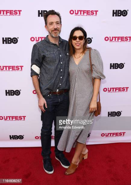 Producer Josh Hetzler and Leah Quinaz arrive at the 2019 Outfest Los Angeles LGBTQ Film Festival Closing Night Gala Premiere of Before You Know It at...