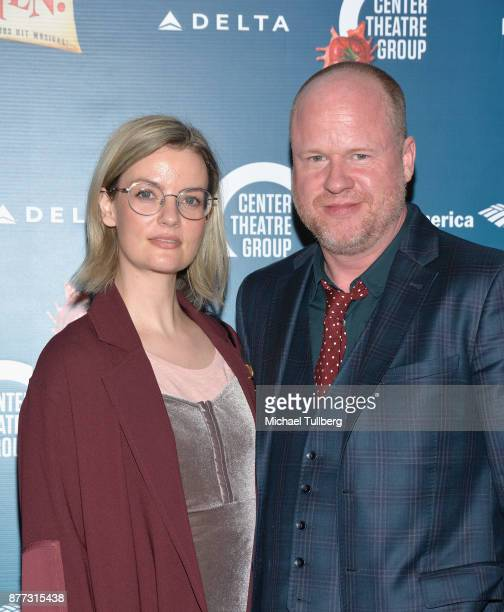 Producer Joss Whedon and guest attend the opening night of Something Rotten at Ahmanson Theatre on November 21 2017 in Los Angeles California