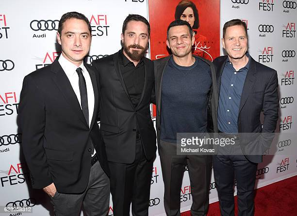 Producer Juan de Dios Larrain director Pablo Larrain and producers Pete Shilaimon and Mickey Liddell attend the premiere of 'Jackie' at AFI Fest 2016...