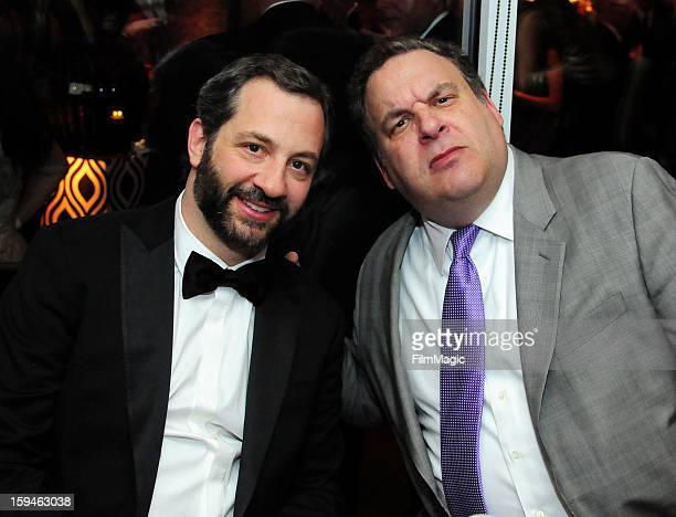 Producer Judd Apatow and actor Jeff Garlin attend HBO's Official Golden Globe Awards After Party held at Circa 55 Restaurant at The Beverly Hilton...
