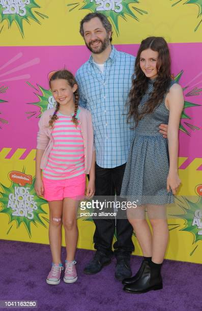 Producer Judd Apatow and his daughters Iris and Maude Apatow arrive at Nickelodeon's 26th Annual Kids' Choice Awards at USC Galen Center in Los...