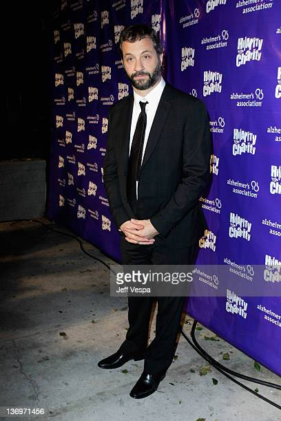 """Producer Judd Apatow arrives at """"Hilarity For Charity"""" To Benefit The Alzheimer's Association at Vibiana on January 13, 2012 in Los Angeles,..."""