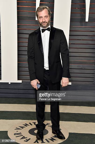 Producer Judd Apatow attends the 2016 Vanity Fair Oscar Party Hosted By Graydon Carter at the Wallis Annenberg Center for the Performing Arts on...