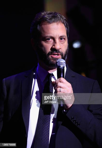 """Producer Judd Apatow speaks at """"Hilarity For Charity"""" To Benefit The Alzheimer's Association at Vibiana on January 13, 2012 in Los Angeles,..."""