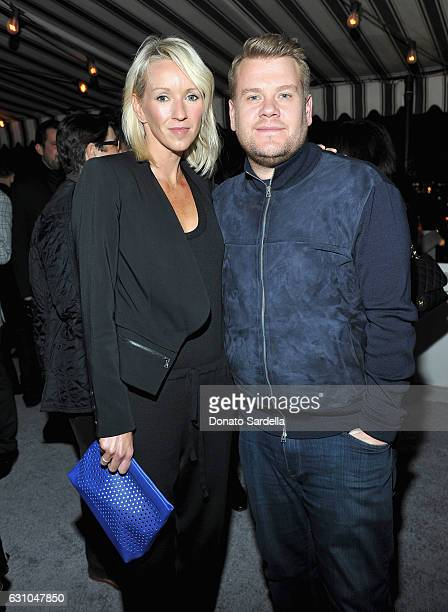 Producer Julia Carey and TV host James Corden attend W Magazine Celebrates the Best Performances Portfolio and the Golden Globes with Audi and Moet...