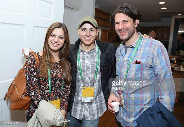 Producer Julianna Gelinas Bonifacio and director Matthew Bonifacio pose with guest at the Producers Reception during the 2013 Tribeca Film Festival...