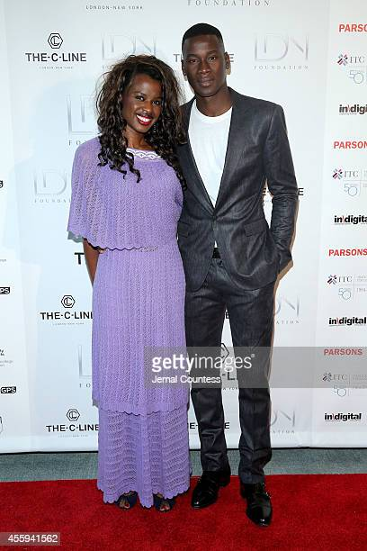 Producer June Sarpong and model David Agbodji attend Women Empowering Women Luncheon And Fashion Show At The UN For LDNY Festival Launch on September...