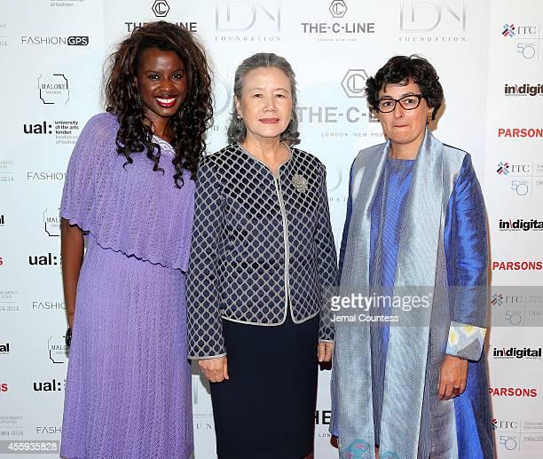Producer June Sarpong Yoo Soontaek wife of UN Secretary General Ban Kimoon and Executive Director of ITC Arancha Gonzalez attend Women Empowering...