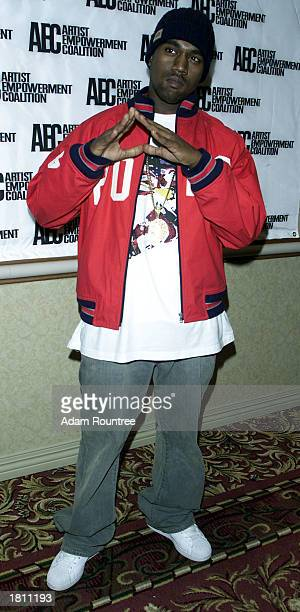 Producer Kanye West attends the Artist Empowerment Coalition's Grammy Sunday Brunch February 23 2003 at the New York Hilton Hotel in New York City