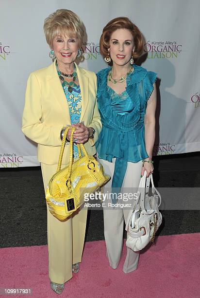 Producer Karen Kramer and actress Kat Kramer arrive to the opening of Kirstie Alley's Organic Liaison Store on March 9 2011 in Los Angeles California