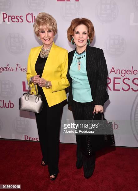 Producer Karen Kramer and actress Kat Kramer attend the LA Press Club's Veritas Awards on February 2 2018 in Los Angeles California