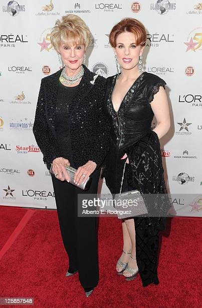 Producer Karen Kramer and actress Katherine Kramer arrives to the Hollywood Walk of Fame's 50th Anniversary Celebration on November 3 2010 in...