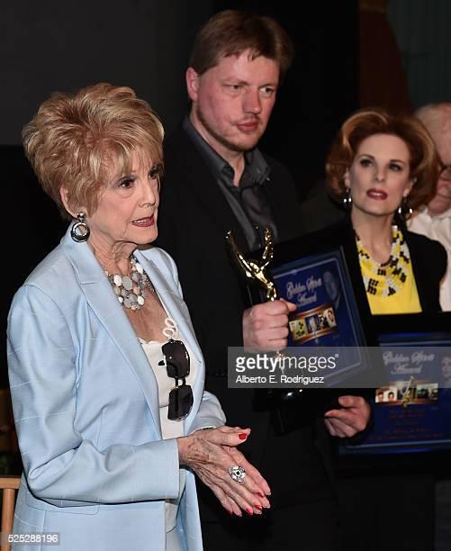 Producer Karen SharpeKramer director Michael von Hohenberg and actress Kat Kramer attend the Atomic Age Cinema Fest Premiere of The Man Who Saved The...
