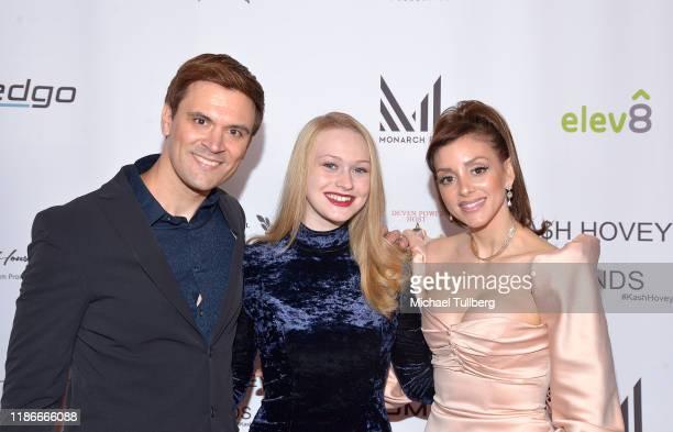 Producer Kash Hovey and actors Rachelle Henry and Rachele Royale attend the Kash Hovey and Friends Film Block at Film Fest LA at Regal Cinemas LA...