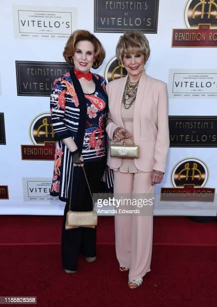 Producer Kat Kramer and actress Karen Sharpe arrive at the debut of the Southern California location of Michael Feinstein's new supper club...