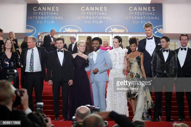 Producer Kathleen Kennedy actors Woody Harrelson Alden Ehrenreich Emilia Clarke Donald Glover Phoebe WallerBridge Thandie Newton Joonas Suotamo...
