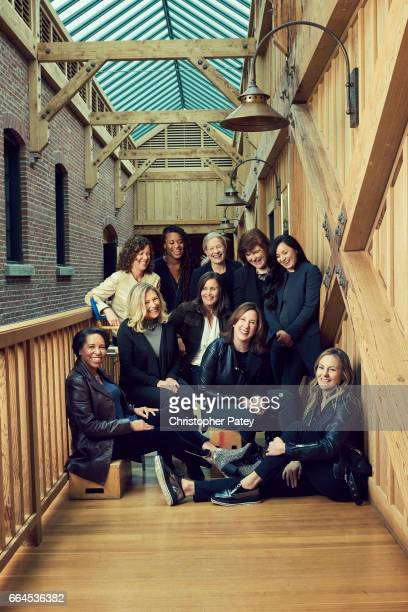 Producer Kathleen Kennedy and her team Jacqui Lopez and Athena Portillo From left back row Rhonda Hjort Janet Lewin Lori Aultman Rayne Roberts...