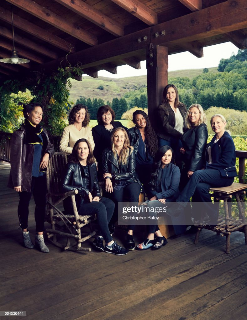 Producer Kathleen Kennedy and her team Jacqui Lopez and Athena
