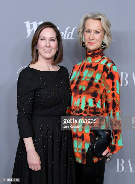 Producer Kathleen Kennedy and honoree Joanna Johnston attend the Costume Designers Guild Awards at The Beverly Hilton Hotel on February 20 2018 in...