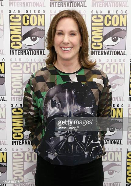 Producer Kathleen Kennedy at the Hall H Panel for 'Star Wars The Force Awakens' during ComicCon International 2015 at the San Diego Convention Center...