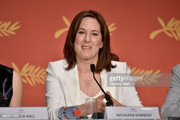 Producer Kathleen Kennedy attends The BFG press conference during the 69th annual Cannes Film Festival at the Palais des Festivals on May 14 2016 in...