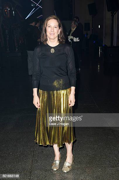 Producer Kathleen Kennedy attends the European Premiere of Star Wars The Force Awakens After Party at Tate Britain on December 16 2015 in London...
