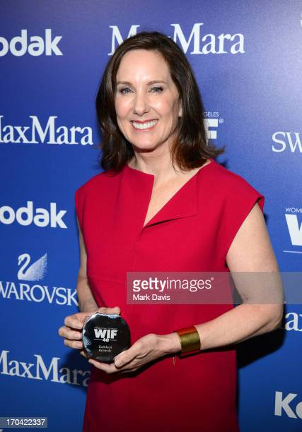 Producer Kathleen Kennedy attends Women In Film's 2013 Crystal Lucy Awards at The Beverly Hilton Hotel on June 12 2013 in Beverly Hills California