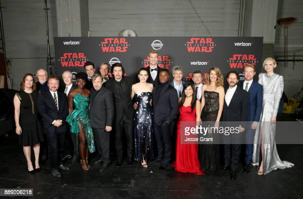 Producer Kathleen Kennedy Composer John Williams Writer/Director Rian Johnson actors Anthony Daniels Lupita Nyong'o Benicio del Toro Mark Hamill The...