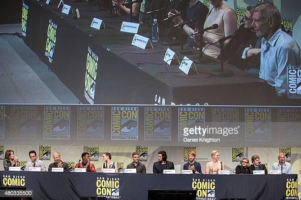 Producer Kathleen Kennedy director JJ Abrams screenwriter Lawrence Kasdan actors John Boyega Daisy Ridley Oscar Isaac Adam Driver Domhnall Gleeson...