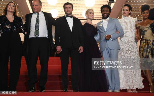 US producer Kathleen Kennedy US actor Woody Harrelson US actor Alden Ehrenreich British actress Emilia Clarke US actor Donald Glover British actress...