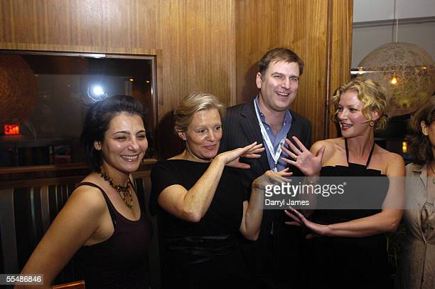 "Producer Katie Roumel, director Mary Harron, co-director of the TIFF, Noah Cowan, and actress Gretchen Mol attend the dinner party for ""The Notorious..."